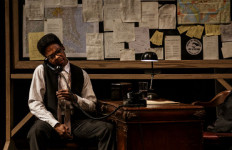 "Michael Benjamin Washington as the civil rights leader Bayard Rustin in ""Blueprints To Freedom"" at the La Jolla Playhouse."