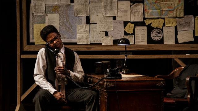"Michael Benjamin Washington as the civil rights leader Bayard Rustin in ""Blueprints To Freedom"" at the La Jolla Playhouse."