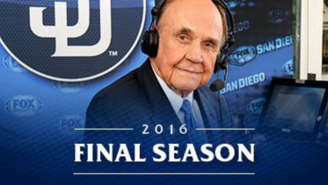 Dick Enberg. Photo courtesy of the San Diego Padres