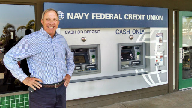 Cutler Dawson, president and CEO of Navy Federal, outside a branch in National City. Photo by Chris Jennewein