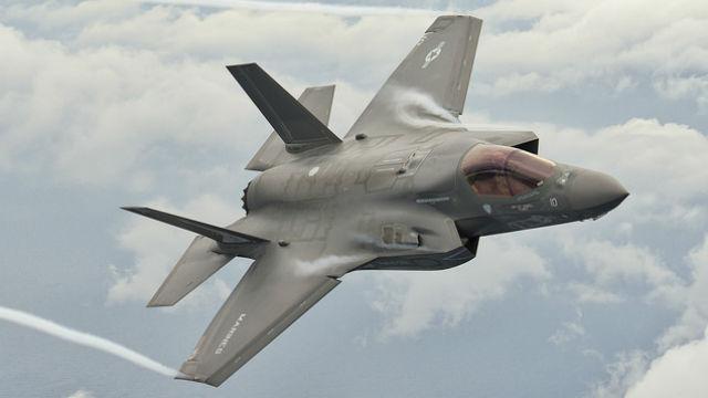 A Marine Corps F-35B Lightning II on a training mission over South Carolina. Courtesy Lockheed Martin