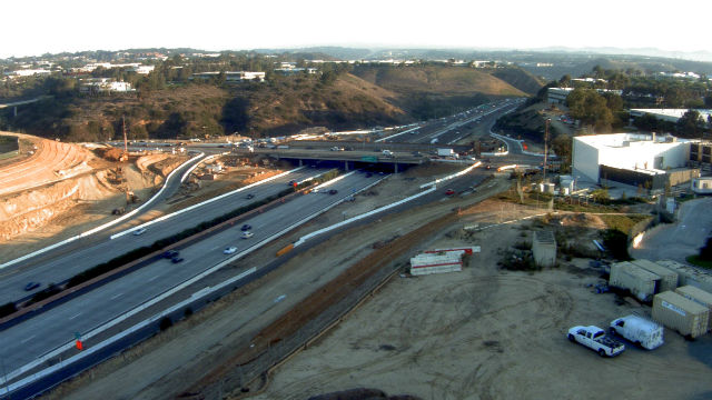 Construction on Interstate 5 at Genessee Avenue. Courtesy SANDAG
