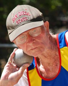 Leland McPhie was a thrower in later years. Photo by Chris Stone