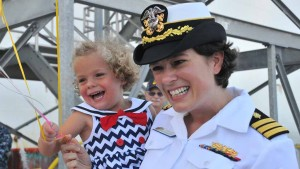 Commander Marion Henry with her daughter Katie. Photo by Chris Stone