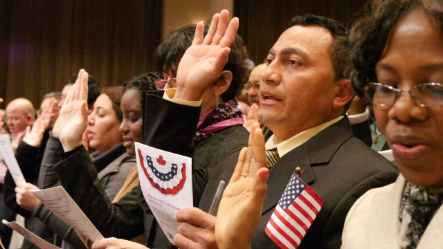 A naturalization ceremony in Virginia. Courtesy Department of Homeland Security