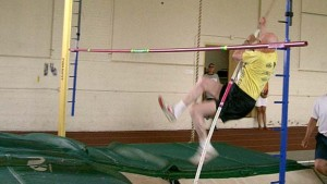Donald Pellmann hopes to pole vault in San Diego on Sept. 20, as he did 10 years ago in Colorado. Photo courtesy Ned Pellmann