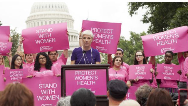 A Planned Parenthood rally in Washington. Courtesy Planned Parenthood