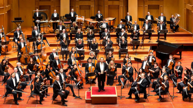 The San Diego Symphony Orchestra with conductor Jahja Ling. Courtesy of the symphony