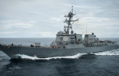 The guided missile destroyer USS Kidd underway off Southern California. Navy photo