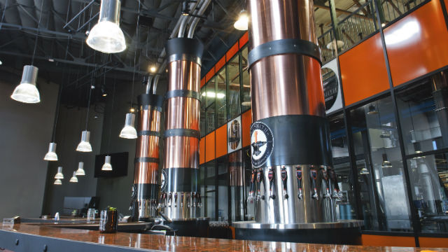 A view of the tap towers in the new AleSmith tasting room. Courtesy AleSmith