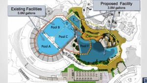 SeaWorld map of planned expansion for Blue World Project. Image via California Coastal Commission