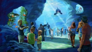 Artist's conception of Blue World Project viewing area. Image via SeaWorld Entertainment