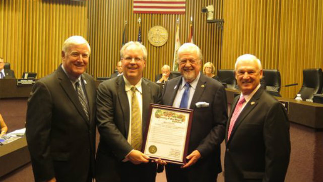 Supervisor Greg Cox honored Legal Aid Society for their work on Live Well San Diego