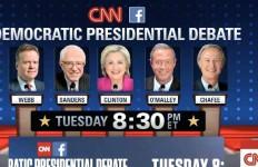 Democratic lineup at CNN debate. Image via cnn.com
