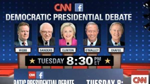 Democratic lineup at CNN debate. Image via cnn.com