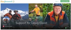 GiveForward page is devoted to raising money for Doug David's care and trip home to San Diego.