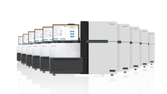 Illumina HiSeq X gene-sequencing systems. Courtesy Illumina