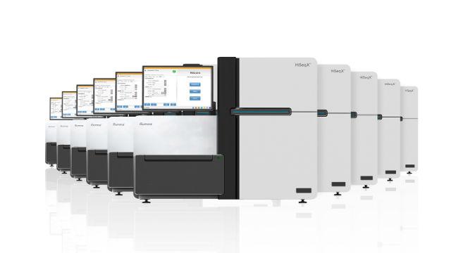 Illumina HiSeq X gene-sequencing systems. Courtesy Illumina