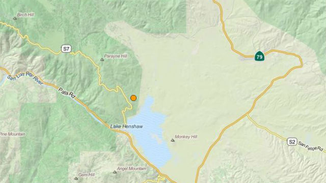 U.S. Geological Survey map shows the location of the earthquake.