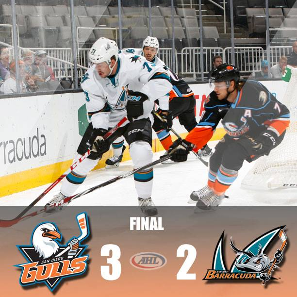 San Diego's New Gulls Defeat San Jose In Shootout