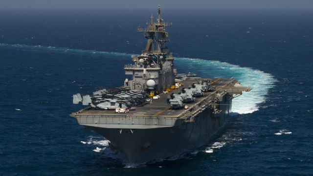 The USS Essex underway in the Arabian Sea. Navy photo
