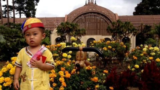 A boy in a Halloween costume in Balboa Park. Courtesy photo