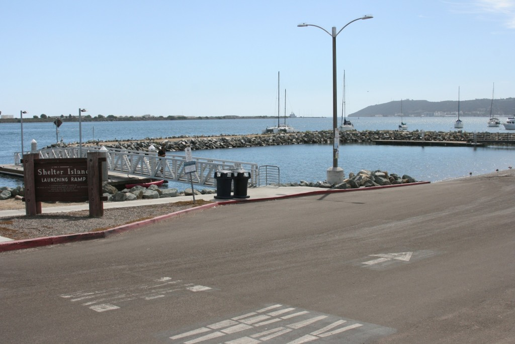 Shelter Island boat launch facility. Photo courtesy of the Port of San Diego