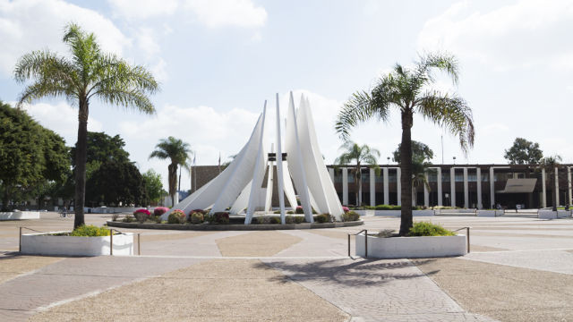 The Martin Luther King Jr. memorial outside Compton's city hall. Courtesy City of Compton