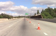 A deserted Interstate 8 on Wednesday afternoon. Courtesy Caltrans