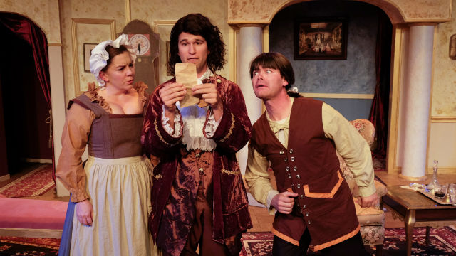 "A scene from ""Heir Apparent"" at Scripps Ranch Theatre."