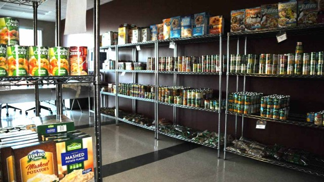 Mama's Kitchen in San Diego has a pantry for clients in need of food supplies. Photo by Chris Stone