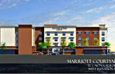 An artist rendering of the proposed Courtyard by Marriott hotel. Photo courtesy of the city of El Cajon