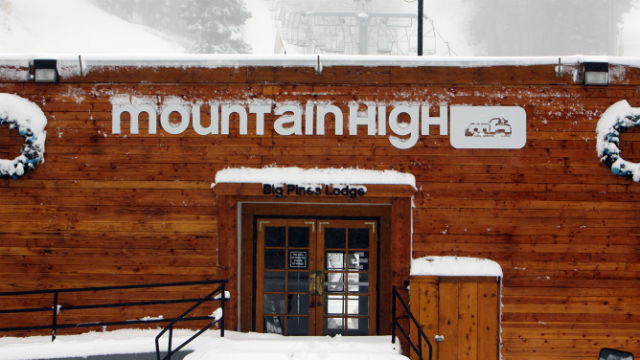 The Mountain High ski resort north of Los Angeles.