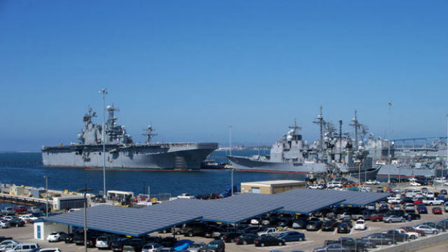 Ships docked at Naval Base San Diego. Photo courtesy EPA