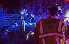 Firefighters at the scene of the fatal accident in Oceanside. Courtesy OnScene.TV