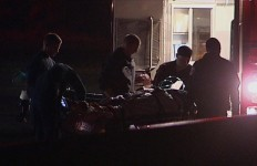 Paramedics assist one of the victims in the Oceanside stabbing. Courtesy OnScene.TV