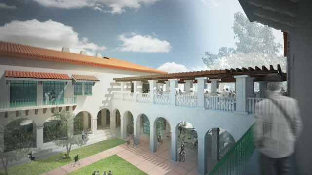 An architect's rendering of San Diego State University's Engineering and Interdisciplinary Sciences Complex. Image courtesy SDSU Marketing and Communications.