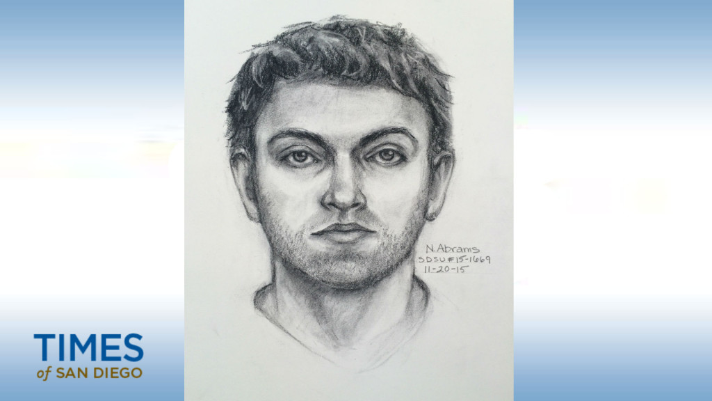 Police are looking for the suspect who assaulted a Muslim student at San Diego State University. Photo coutersy of San Diego Police Department