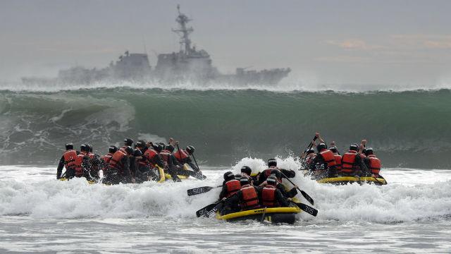 Navy SEALs train off Coronado in 2014. Navy photo