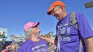 Lenora and Donald Goodliffe of Escondido make the 3-day journey as a couple. Photo by Chris Stone