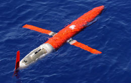 One of Scripp's autonomous ocean gliders.