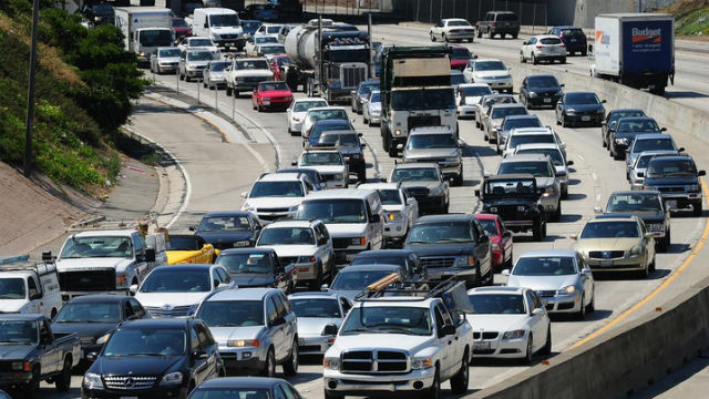 A jammed California freeway. Photo courtesy California Highway Patrol
