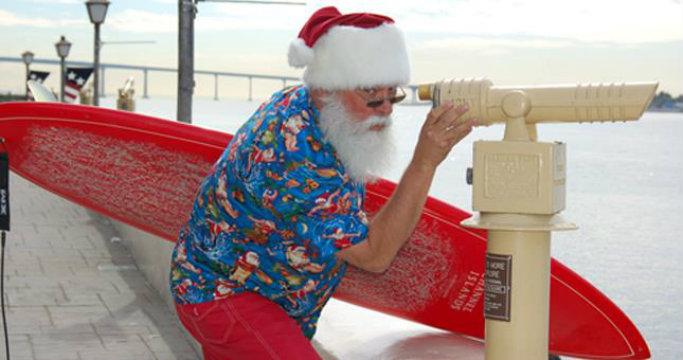 Surfin' Santa. Photo courtesy of Seaport Village