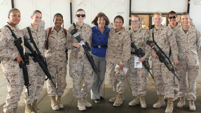 Rep. Susan Davis with some of America's female troops. Courtesy Davis' office