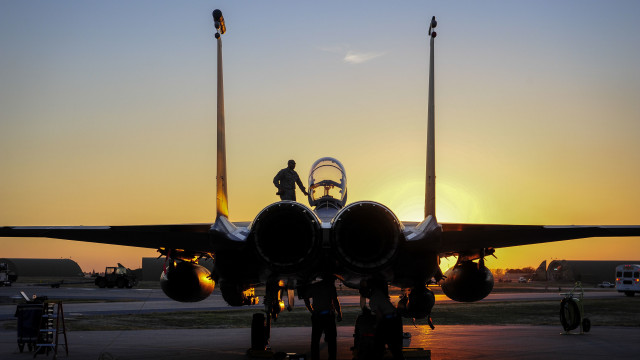 An F-15E Strike Eagle sits on the flightline at Incirlik Air Base. Air Force photo