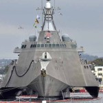 Littoral Combat Ship at Navy Base San Diego.