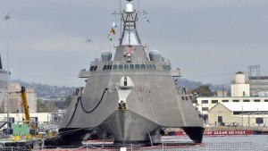 Littoral Combat Ship at Navy Base San Diego. Photo by Chris Stone