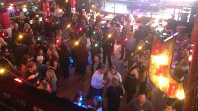 The crowd at Mingle Bells 2014. Photo courtesy American Marketing Association