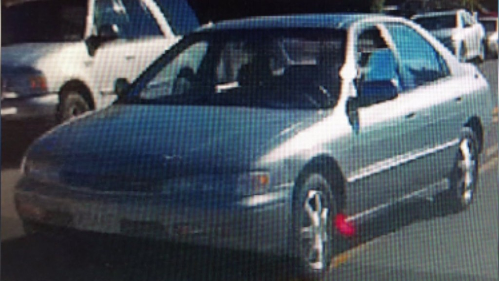 This is the car that police say was involved in a hit-and-run that injured a Mira Mesa toddler. Photo courtesy of San Diego Crime Stoppers