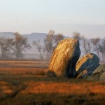 A boulder in the Ramona grasslands